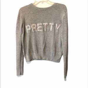 """🐝3/15$ Topshop """"PRETTY"""" long sleeve sweater  top"""